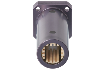drylin® Q linear plain bearing with angular flange, tandem